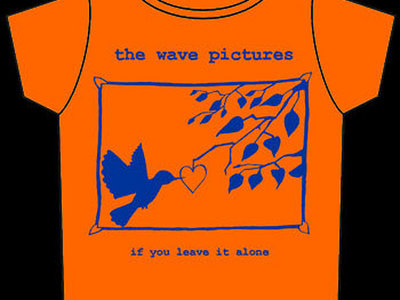 If You Leave It Alone t-shirt ORANGE with BLUE print main photo