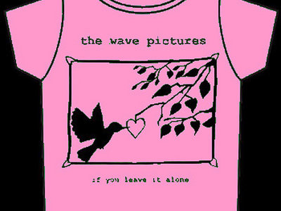 If You Leave It Alone t-shirt PINK with BLACK print main photo