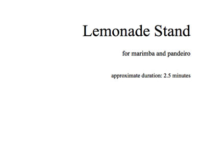 Lemonade Stand Sheet Music main photo