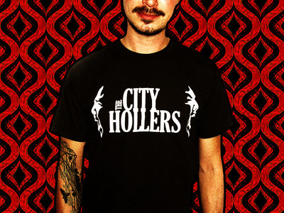 The City Hollers - White logo on charcoal coloured shirt main photo