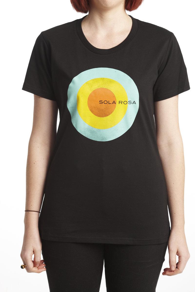 Woman's Circle Design T-Shirt (black or white)   album download ...