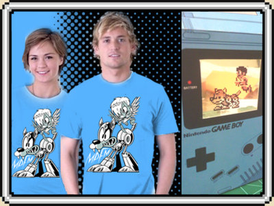 """Rush the Pit"" Limited Edition 50/50 shirt w/Papercraft Game Boy (FREE SHIPPING) main photo"
