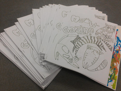 2nd Edition Limited Meowgazine Coloring Book with Free Full Color Poster main photo