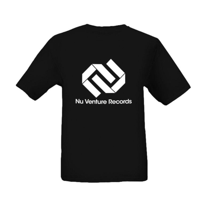 T shirt black and white designs - Nvr Central Logo T Shirt White Free 44 Track Dnb Compilation