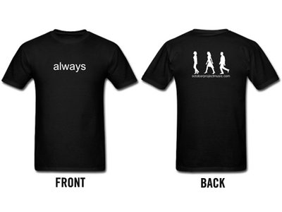Custom Lyric T-shirt (Men's black) main photo