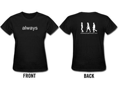 Custom Lyric T-shirt (Women's black) main photo
