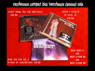 CD BUNDLE: Satan's Kickin' Yr Dick In CD + First There Was the Emptiness CD main photo