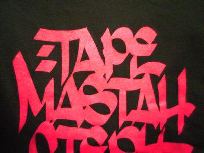 Tape Mastah Steph | T-Shirt | Red on Black main photo
