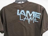"""IAME - """"Lame"""" T-shirt (Brown/Blue) photo"""
