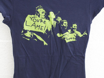"IAME, ""Lame"" T-shirt (Dark Blue/Green) - Women's Sizes Only main photo"