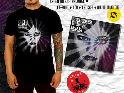 "Merch Special: ""How to Shoot Lasers from Your Eyes"" T-shirt, CD, Sticker and Download main photo"