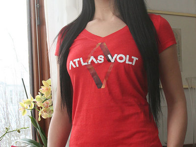 Red V-Neck Lady Shirt - Atlas Volt Logo (Limited Edition) main photo