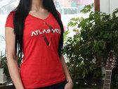 Red V-Neck Lady Shirt - Atlas Volt Logo (Limited Edition) photo