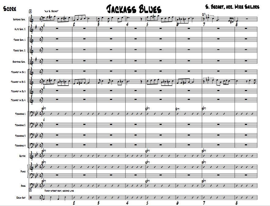 Piano easy piano blues sheet music : Jackass Blues   Mike Sailors