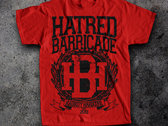 Hatred Barricade T-shirt by ONE TWO SIX Designs photo