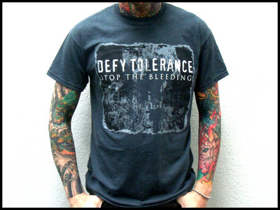 "Gray ""Stop the Bleeding"" T-shirt main photo"