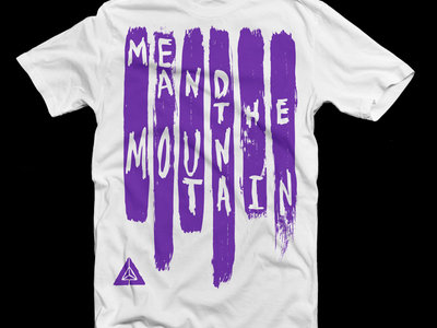 Me and the Mountain Paint Stroke T-Shirt | White/Purple main photo