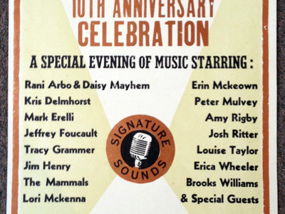 SIGNATURE SOUNDS 10TH ANNIVERSARY CELEBRATION SILKSCREENED POSTER main photo
