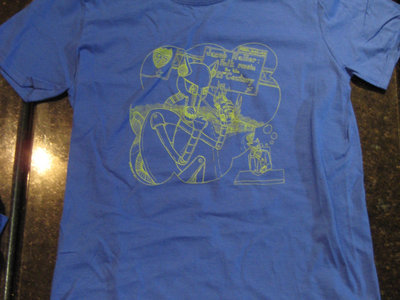 Killer Robot t-shirt (blue - mens sizes only) main photo