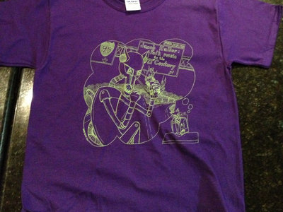 Killer Robot t-shirt (purple - womens and kids sizes only) main photo