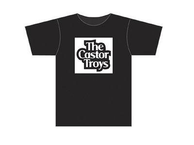 White on black logo T-shirt main photo