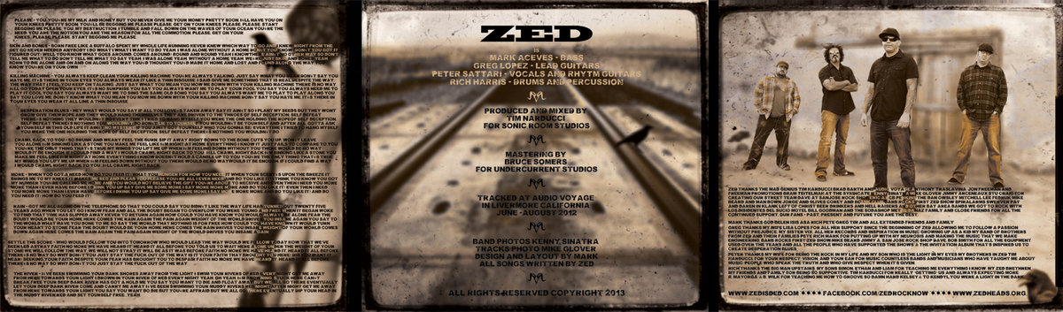 Crawl back to you zed 6 panel matted case with lyrics liner notes photos and credits with artwork designed by mark the bassplayer includes unlimited streaming of desperation stopboris Gallery