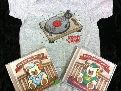 Once Upon A Rhyme 1 and 2 CDs + Turntable Onesie - Bundle main photo