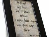 Hand-Made framed Lyric Sheet photo