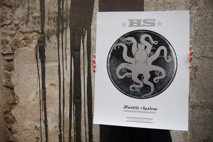 Affiche Moilkan octopus engravingaffiche moilkan | hostile system