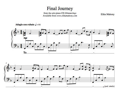 Sheet Music - Final Journey (Glimmerings) + music main photo