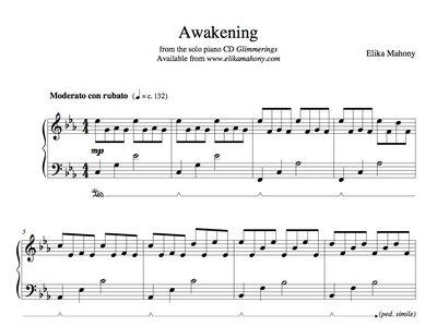 Sheet Music - Awakening (Glimmerings) + music main photo