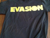 Black Evasion T-Shirt with Yellow Logo photo