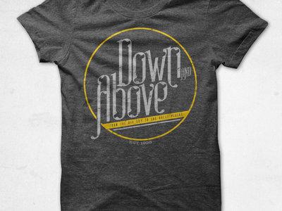 Down and Above t-shirt: circle design main photo