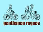 "Gentlemen Rogues ""wandering eye, bicycle guy"" (powder) t-shirt photo"