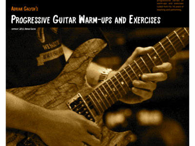 """Progressive Guitar Warm-ups and Exercises"" Book main photo"