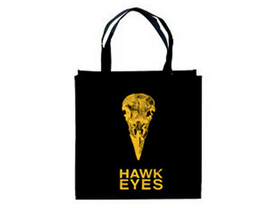 Black Tote Bag with Gold Print main photo