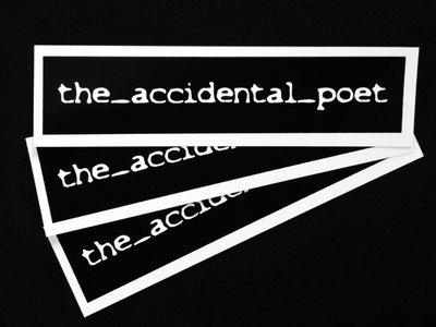 the_accidental_poet vinyl stickers main photo