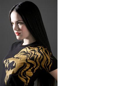 Gold On Black Women T Shirt main photo