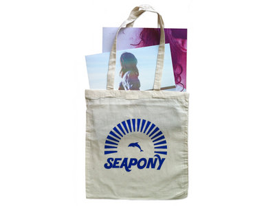 Seapony Tote Bag with Dolphin + Sun Illusion main photo
