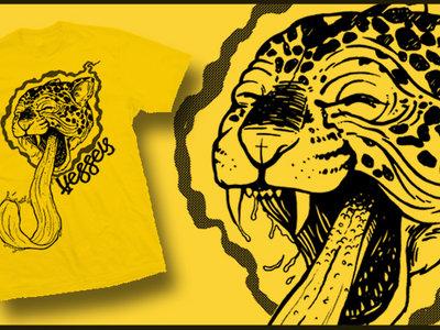 Yellow cat tee shirt main photo