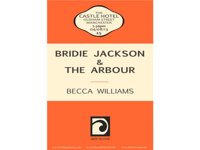 Ticket for Bridie Jackson & The Arbour + Becca Williams at The Castle Hotel, Manchester on Sunday August the 4th main photo