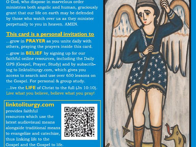 Saint Michael the Archangel - Basic Prayers II Card [25 Cards] main photo