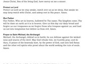 Saint Michael the Archangel - Basic Prayers II Card [25 Cards] photo