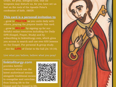 Saint Peter the Apostle - Creed Card [25 Cards] main photo