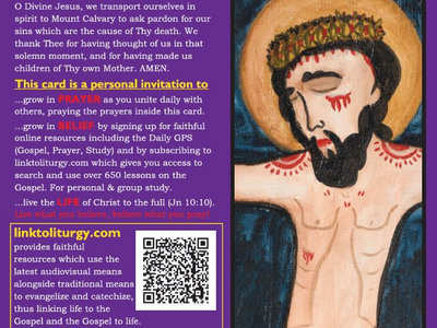 Christ Crucified - Lenten Card [25 Cards] main photo