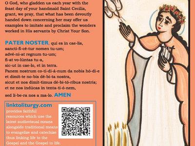 Saint Cecilia - Liturgy of the Hours Card [25 Cards] main photo