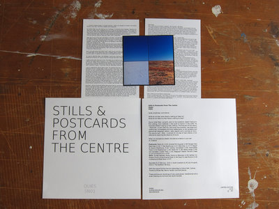 STILLS & POSTCARDS FROM THE CENTRE by QUIES (Limited Edition CD-R) main photo