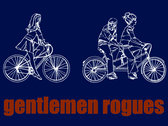 "Gentlemen Rogues ""wandering eye, bicycle guy"" (midnight) t-shirt photo"