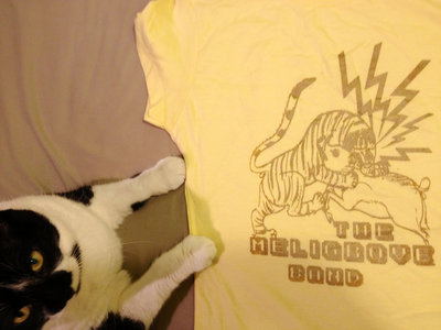 Tiger vs. Boar T-Shirt (Gold or Silver, on Yellow) main photo