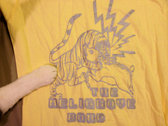 Tiger vs. Boar T-Shirt (Gold or Silver, on Yellow) photo